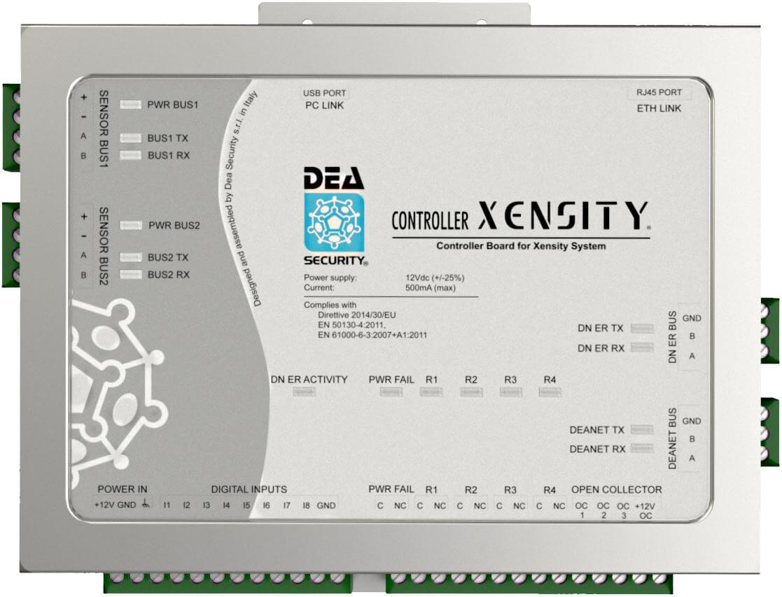Tarjeta de control para 128 sensores/perifericas